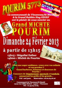 pourim 5773 ACIP Vincennes Grand Michte 2013 02 24